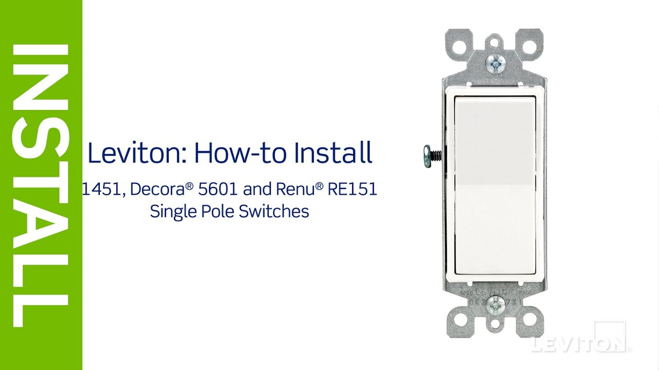 Leviton Presents: How To Install A Single Pole Switch - Youtube - Leviton Switch Wiring Diagram