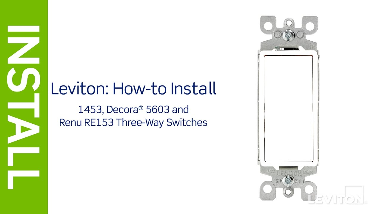 Leviton Presents: How To Install A Three-Way Switch - Youtube - Leviton 3 Way Switch Wiring Diagram