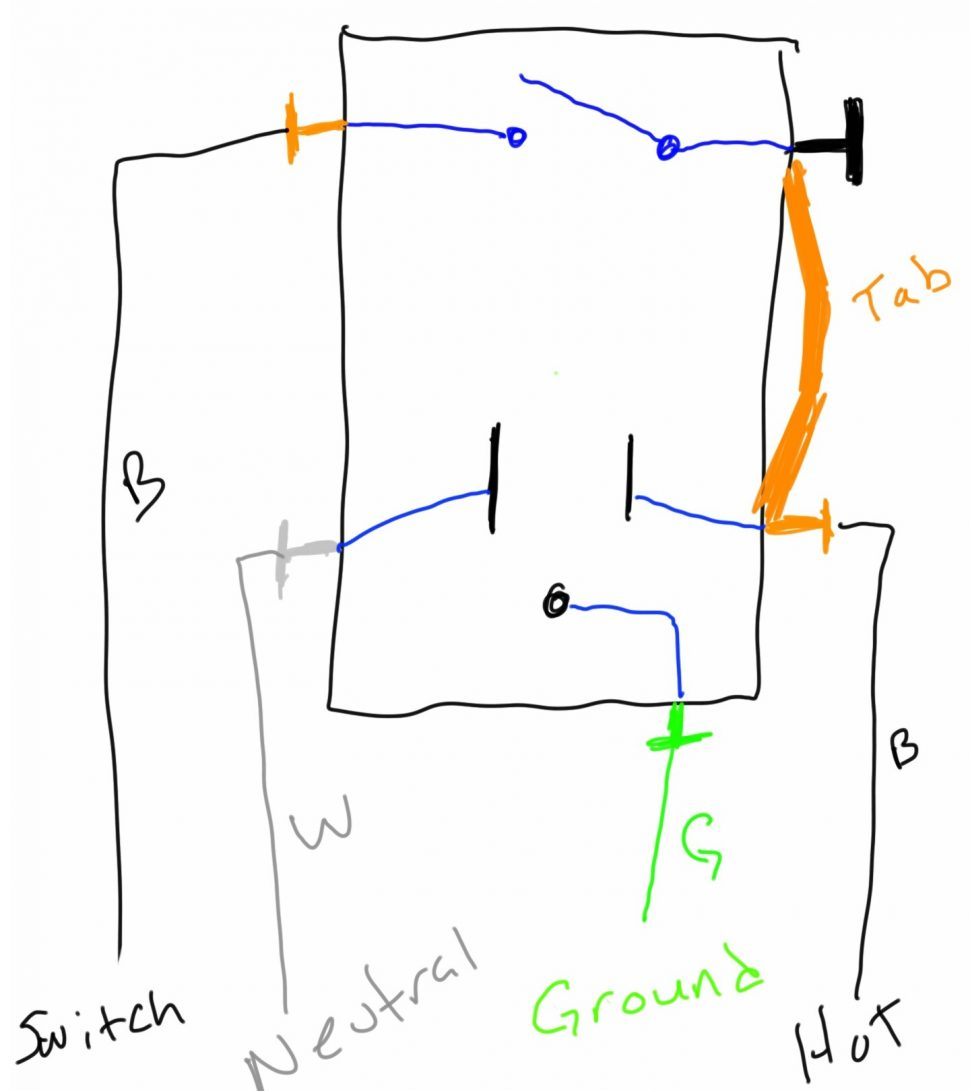 Light Switch Outlet Combo Wiring Diagram 12 5 | Hastalavista - Light Switch To Outlet Wiring Diagram