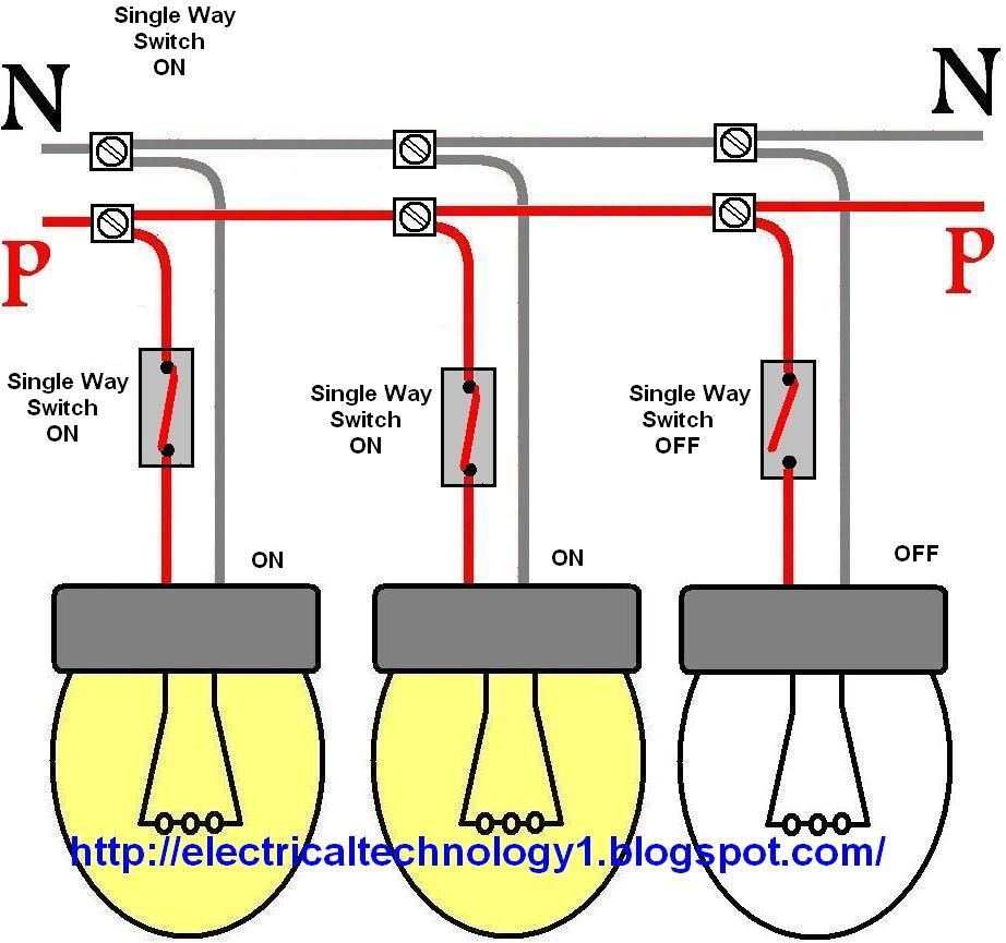 Lights In Parallel Wiring - Data Wiring Diagram Today - 3 Way Light Switch Wiring Diagram Multiple Lights