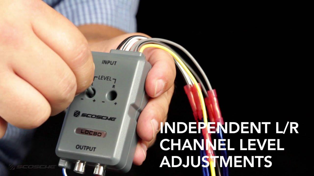 Loc90 - Line Output Converter - Scosche - Youtube - Scosche Line Out Converter Wiring Diagram
