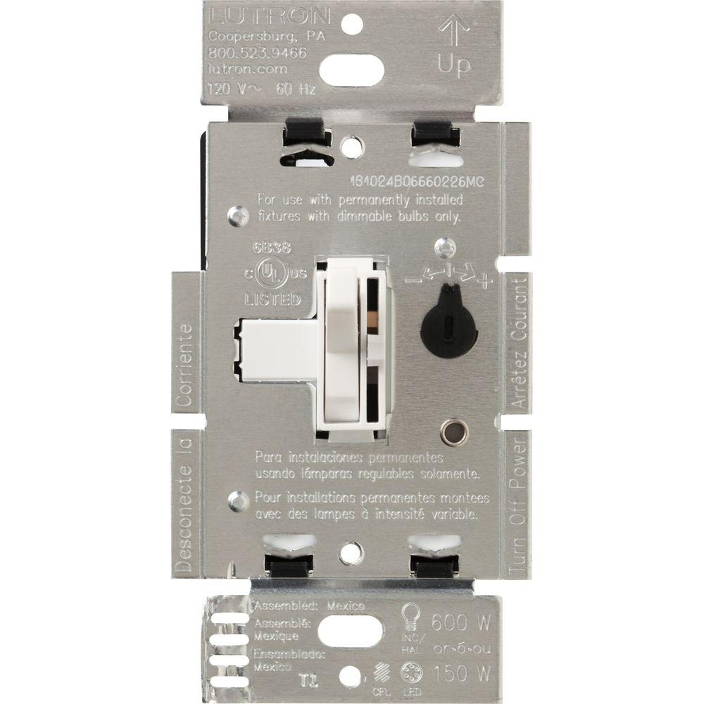 Lutron Toggler C.l Dimmer Switch For Dimmable Led, Halogen And - Lutron 3 Way Dimmer Switch Wiring Diagram
