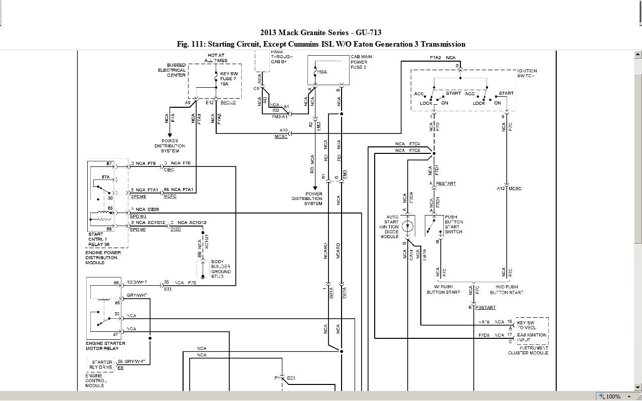 Mack Starter Wiring - All Wiring Diagram Data - Mack Truck Wiring Diagram Free Download