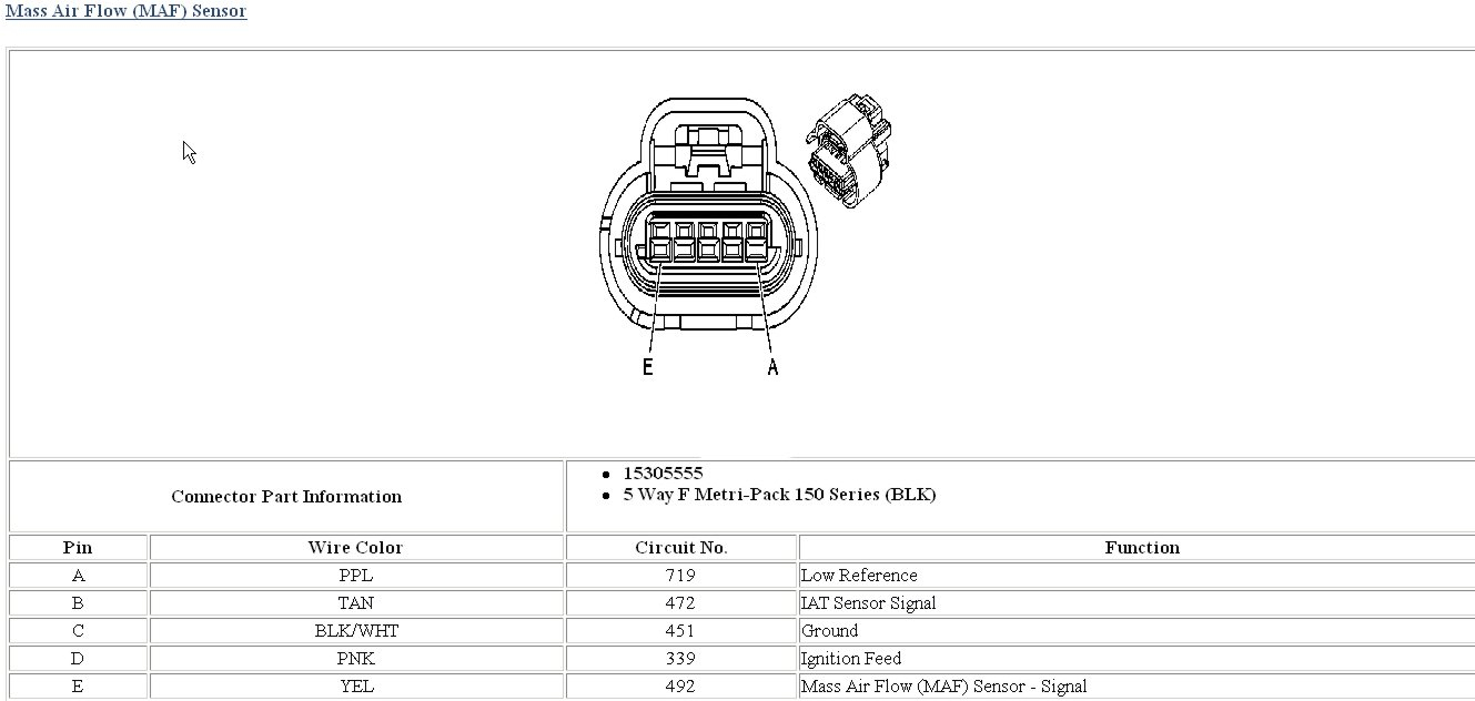 Maf Wire Diagram. - Corvetteforum - Chevrolet Corvette Forum Discussion - Maf Wiring Diagram
