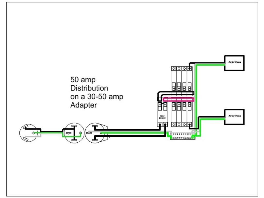 Male 30 Amp Rv Plug Wiring Diagram   Manual E-Books - 50 Amp To 30 Amp Rv Adapter Wiring Diagram