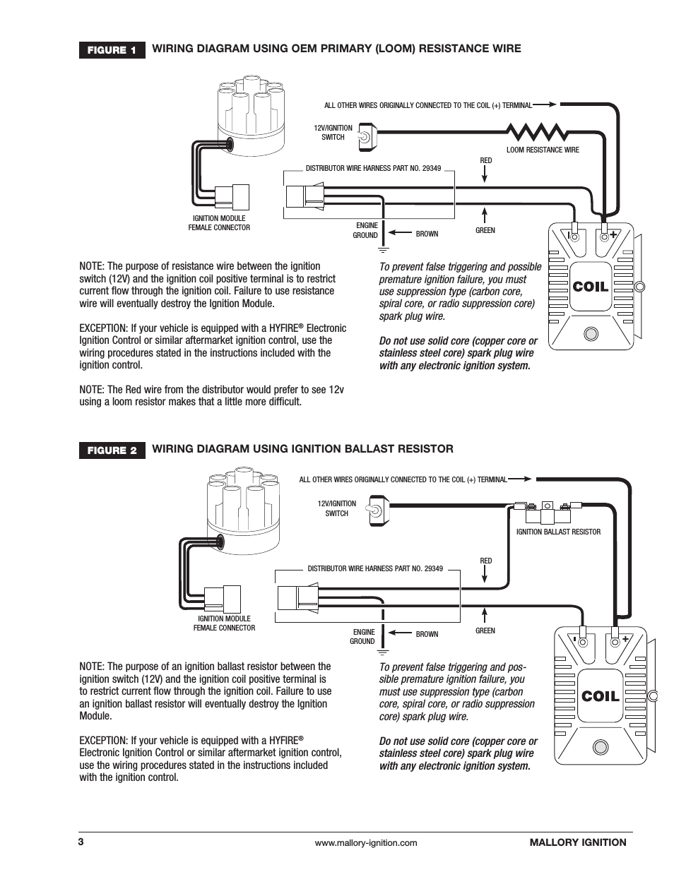 Mallory Ignition Mallory Magnetic Breakerless Distributor 609 User - Mallory Magnetic Breakerless Distributor Wiring Diagram