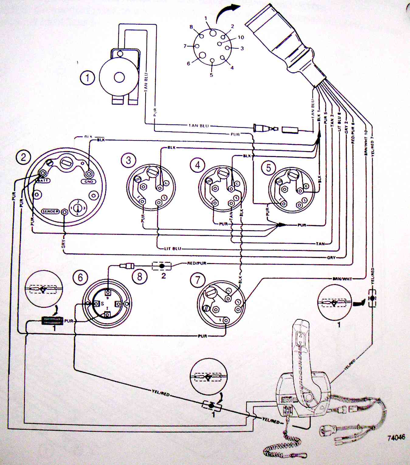 Marine 10 Pin Mercruiser Wiring Harness - Wiring Diagram Data - Mercruiser Ignition Wiring Diagram