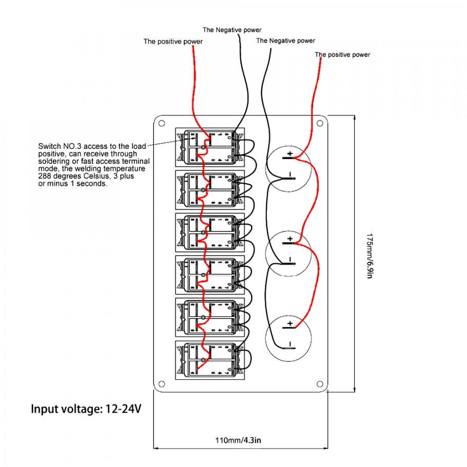 Marine Rocker Switch Wiring Diagram   Manual E-Books - Boat Switch Panel Wiring Diagram