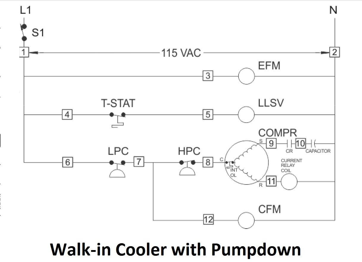 Mechanical & Marine Systems Engineering: Walk-In Cooler Wiring - Walk In Freezer Wiring Diagram