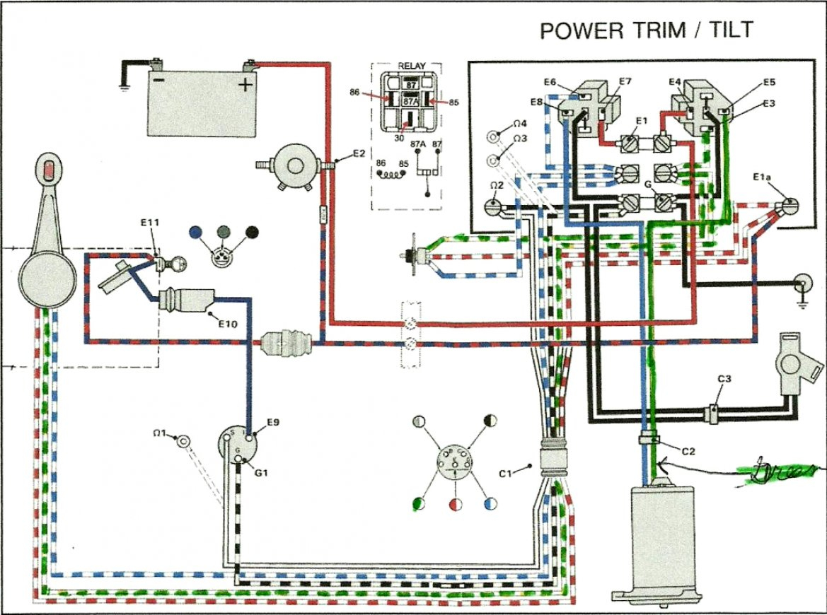Mercruiser Trim Motor Wiring Diagram | Schematic Diagram - Evinrude Wiring Diagram Outboards