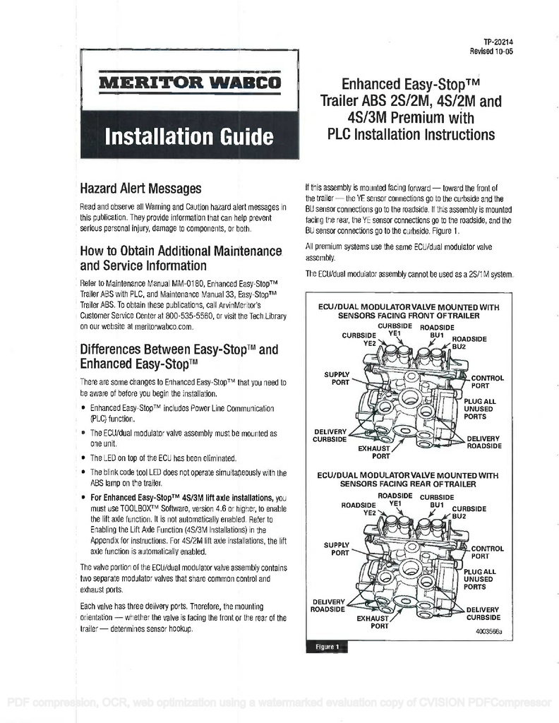 Meritor Wabco Trailer Abs Wiring Diagrams | Manual E-Books - Wabco Trailer Abs Wiring Diagram