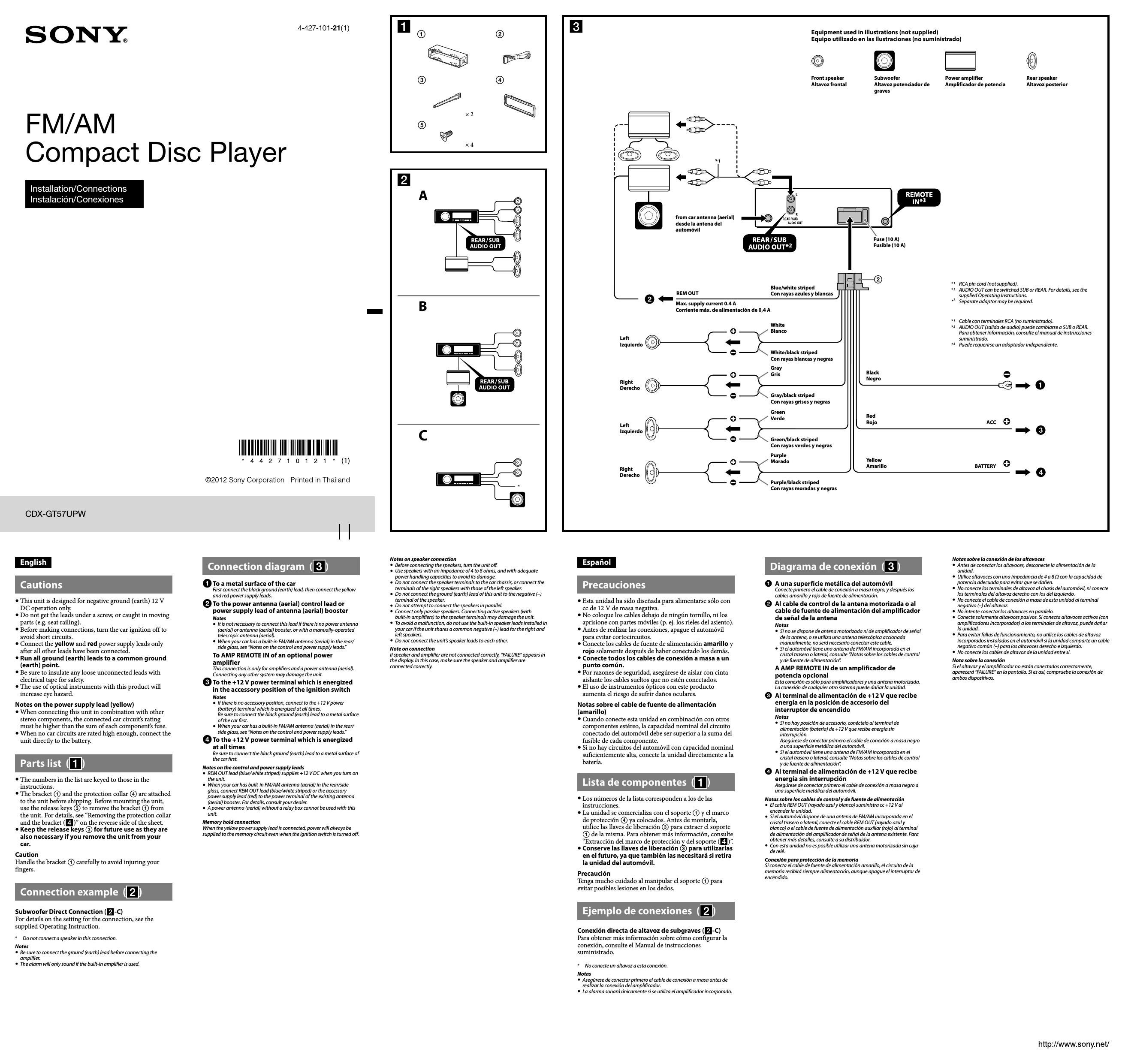 Mnl-4500] Installing Sony Car Stereo User Manual   2019 Ebook Library - Sony Xplod Car Stereo Wiring Diagram