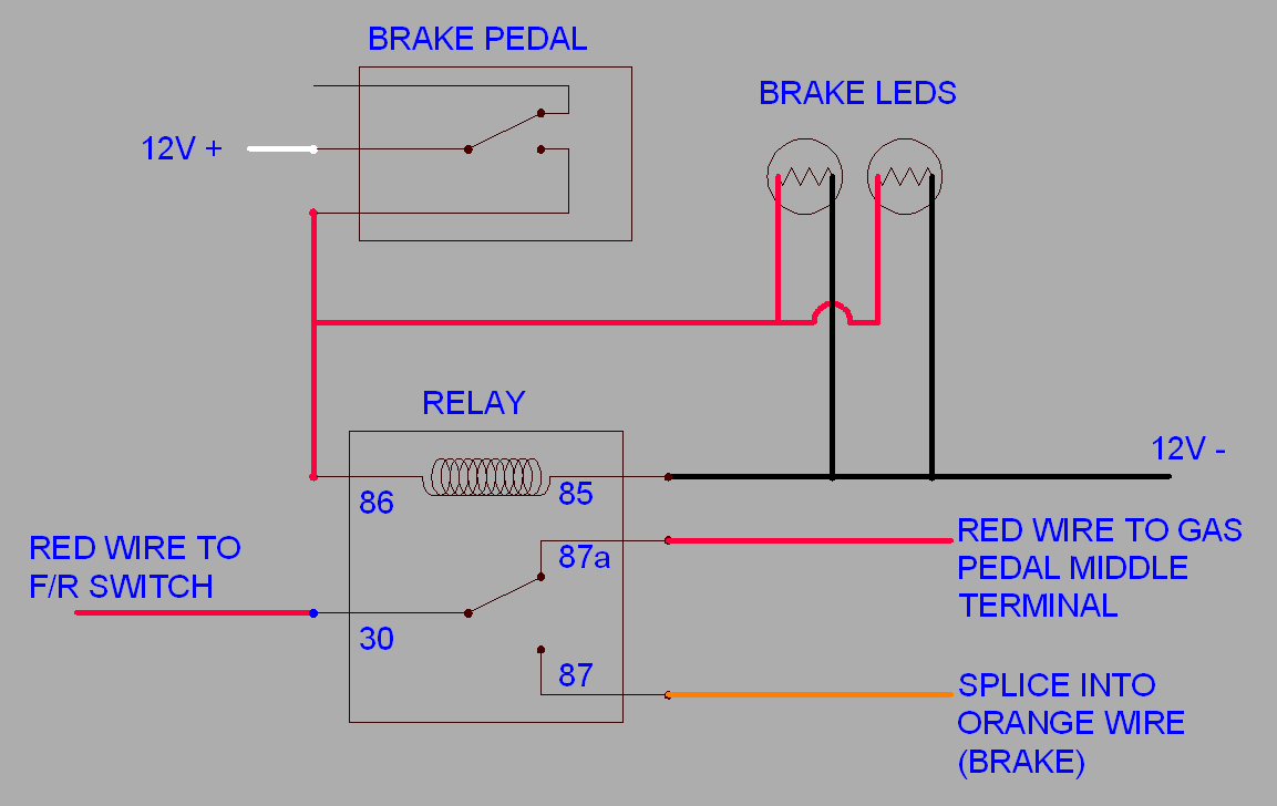 Modified Power Wheels - Functional Brake Lights? - Brake Lights Wiring Diagram