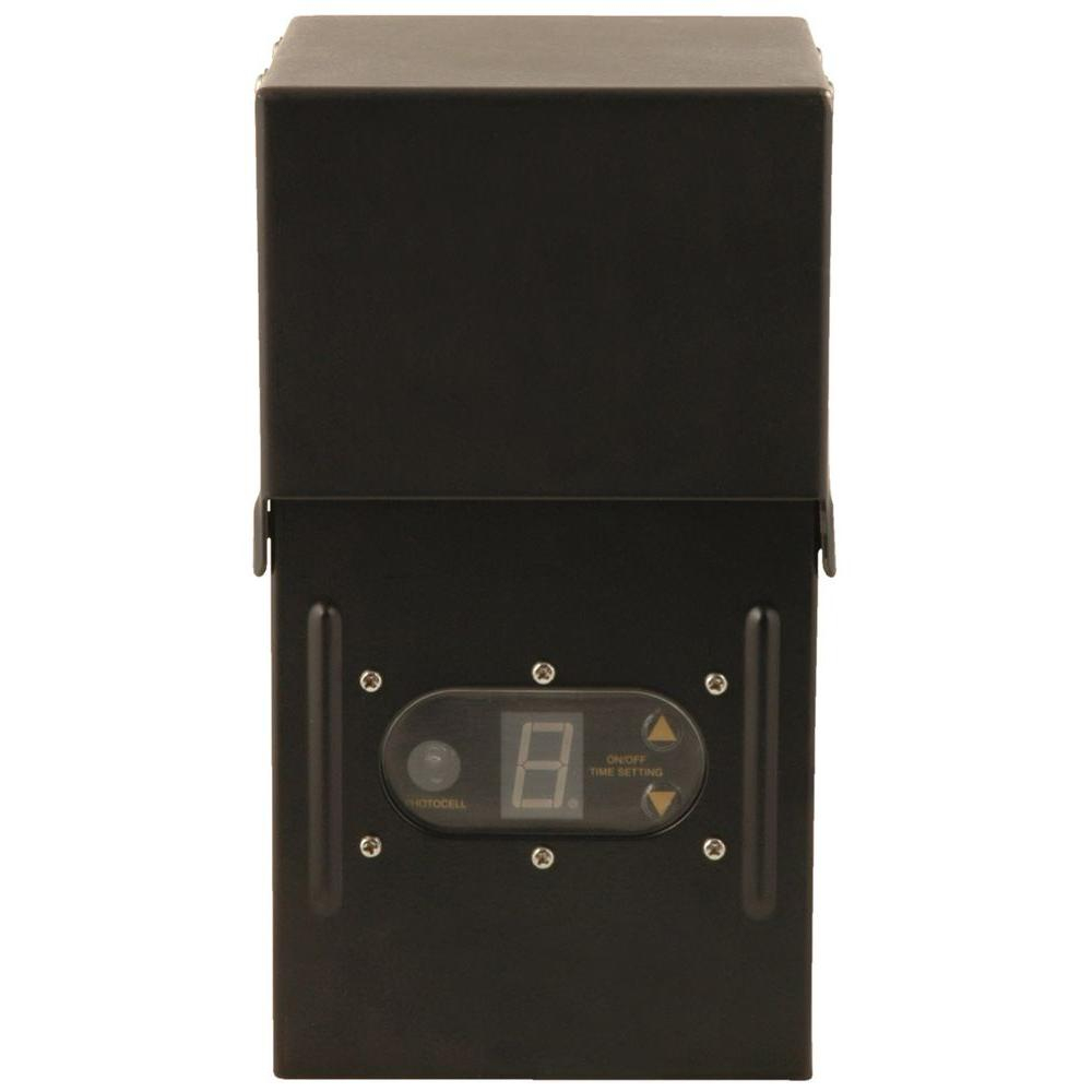 Moonrays Power Pack Low-Voltage 200-Watt Black Outdoor Lighting - Low Voltage Lighting Transformer Wiring Diagram