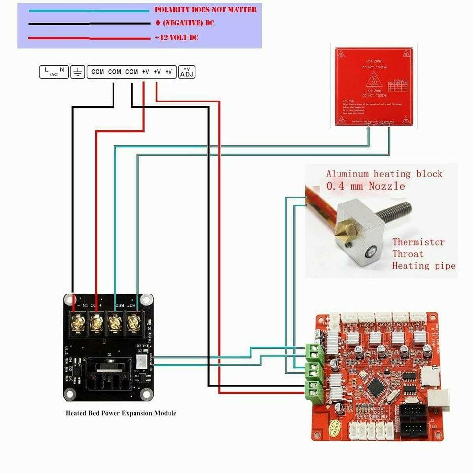 Mosfet Wiring On Anet A8 | 3D Printing | Pinterest | Wire, 3D - Anet A8 Wiring Diagram
