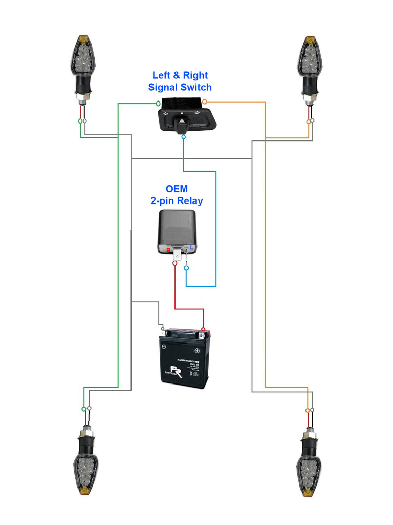 Motorcycle Flasher Relay Wiring Diagram | Wiring Diagram - 2 Pin Flasher Relay Wiring Diagram