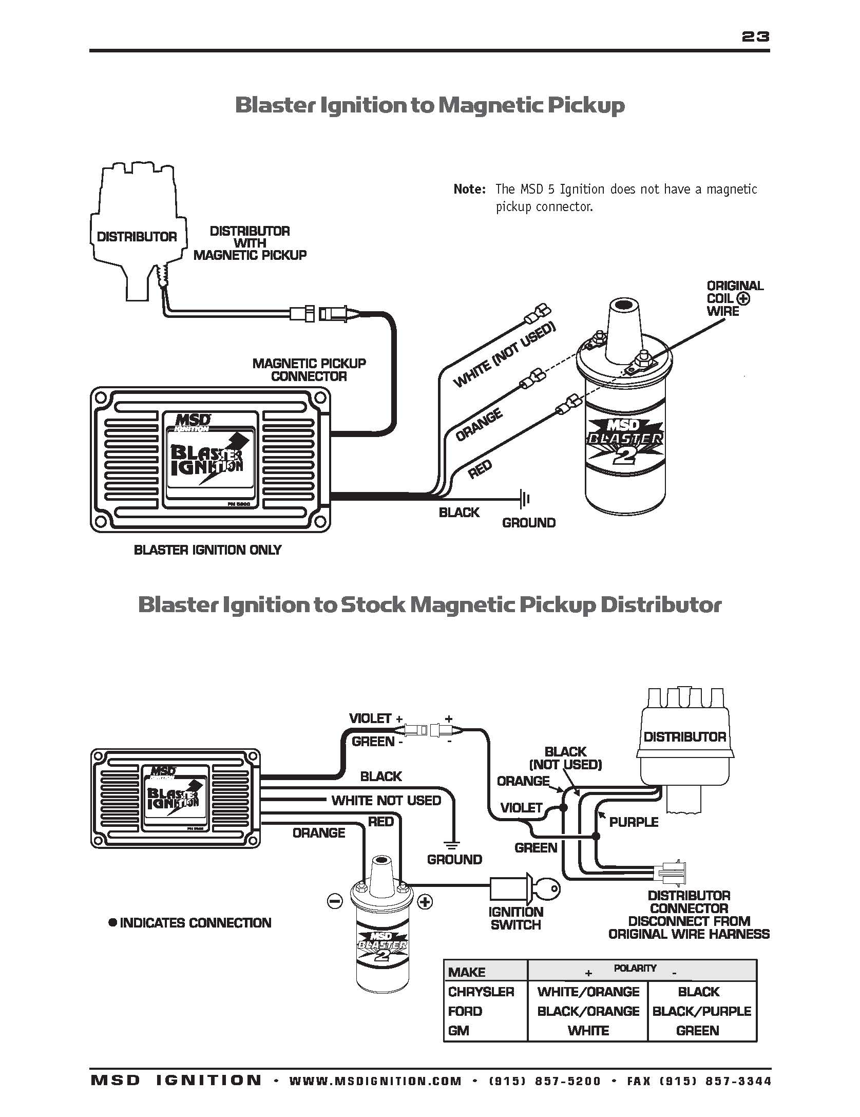 Msd Ignition Wiring Diagram Chevy