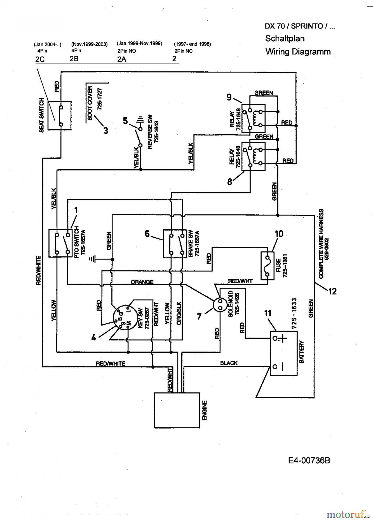 Mtd 13Cd609G063 Wiring Diagram | Wiring Diagram - Mtd Ignition Switch Wiring Diagram
