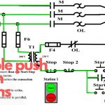 Multiple Push Button Stations. Three Wire Control Multiple Stations   Push Button Start Wiring Diagram