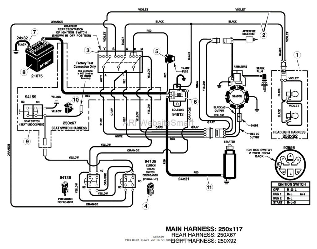 Murray Lawn Mower Starter Wiring Diagram | Manual E-Books - Riding Lawn Mower Starter Solenoid Wiring Diagram