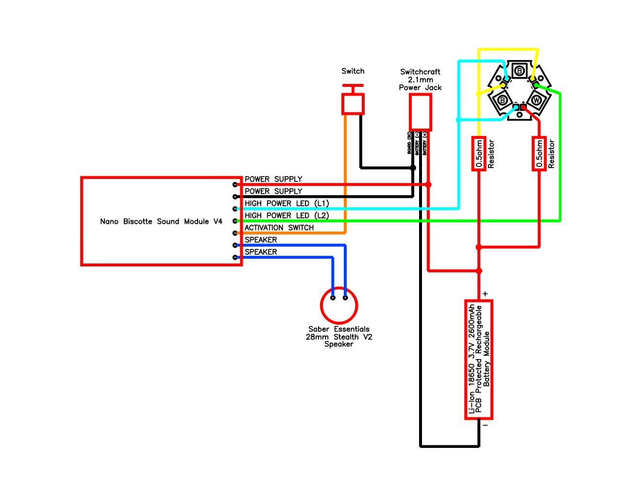 Nano Biscotte V4 Wiring Diagram : Lightsabers - Nano Biscotte V4 Wiring Diagram