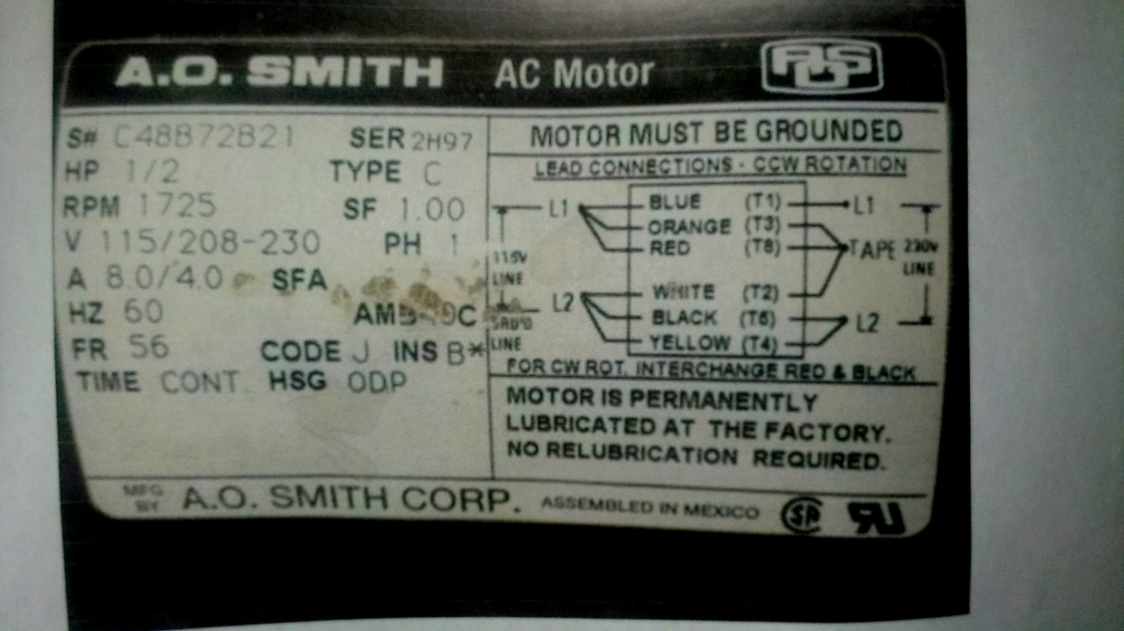 New Ao Smith Motor Wiring Diagram Third Level - Wiringdiagramsdraw - Ao Smith Motor Wiring Diagram