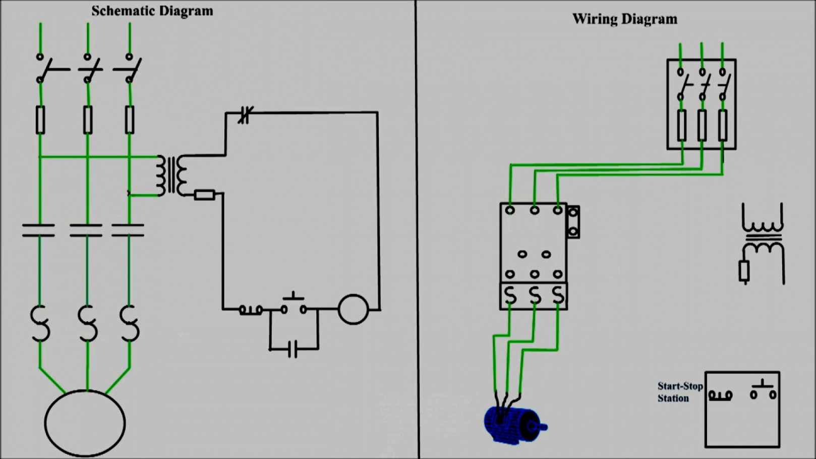 New Of Push Button Start Wiring Diagram Multiple Stations Three Wire - Motor Starter Wiring Diagram Start Stop