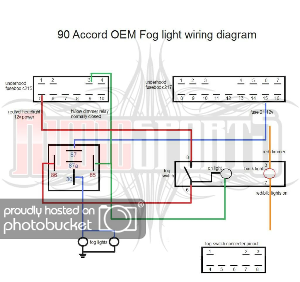 Oem Fog Light Wiring Diagram - Cb7Tuner Forums - Foglight Wiring Diagram