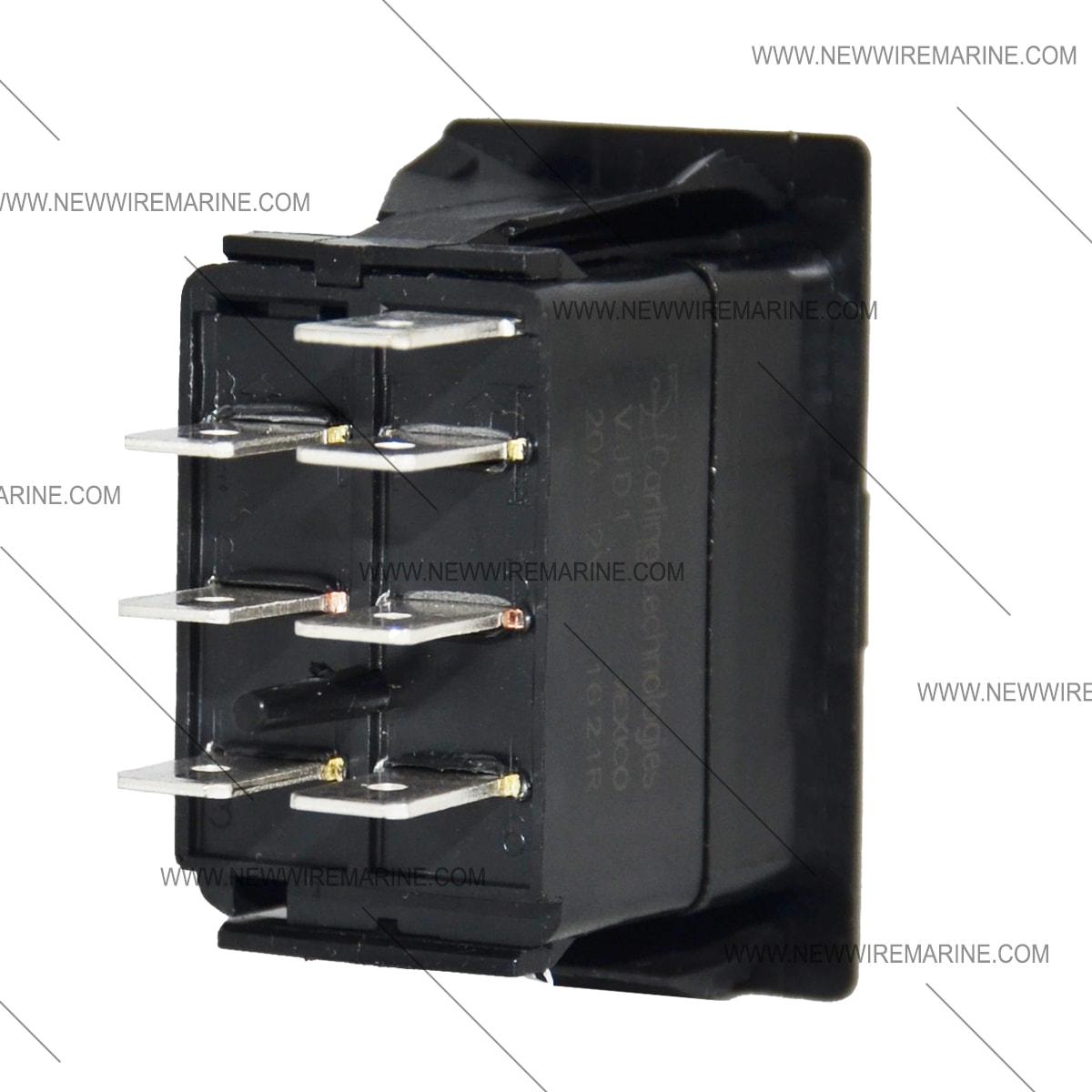 On-Off-On | Marine Rocker Switch | Carling Vjd1 | New Wire Marine - 3 Pin Rocker Switch Wiring Diagram