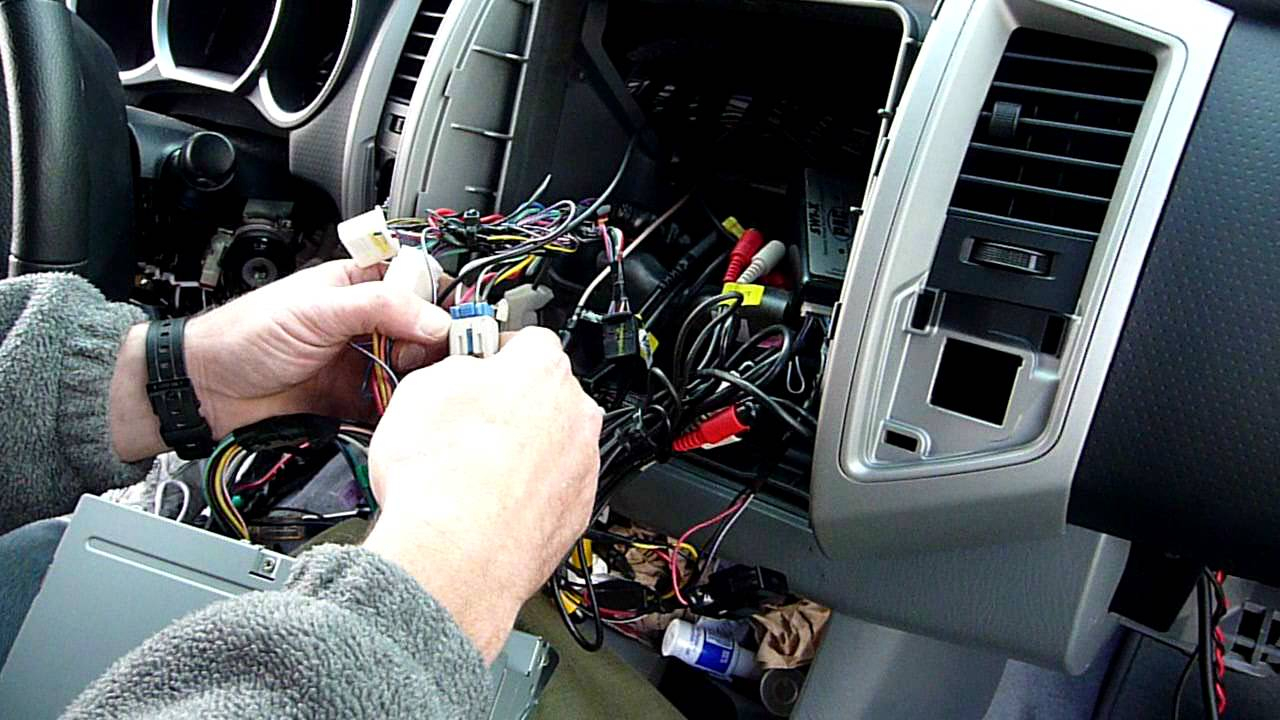 Part 2 Toyota Tacoma Radio Dash Kit And Wiring Installation - Youtube - Toyota Tacoma Stereo Wiring Diagram