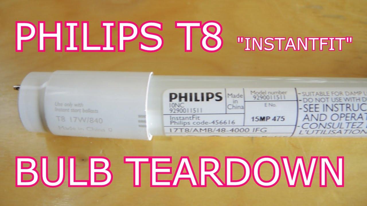 Philips T8 Led Tube Tear Down: The Most Boring Teardown Yet - T8 Led Tube Wiring Diagram