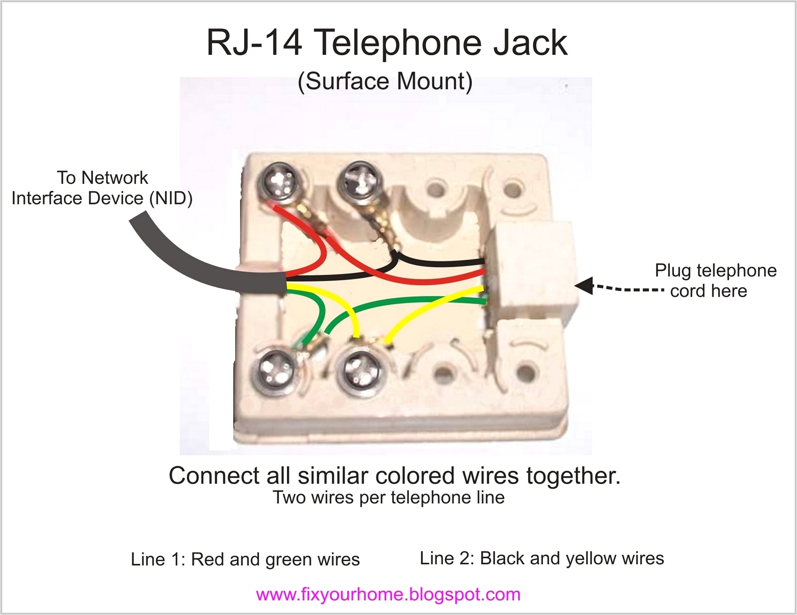 Phone Jack Wiring Diagram - Wiring Solution 2018 - Phone Jack Wiring Diagram