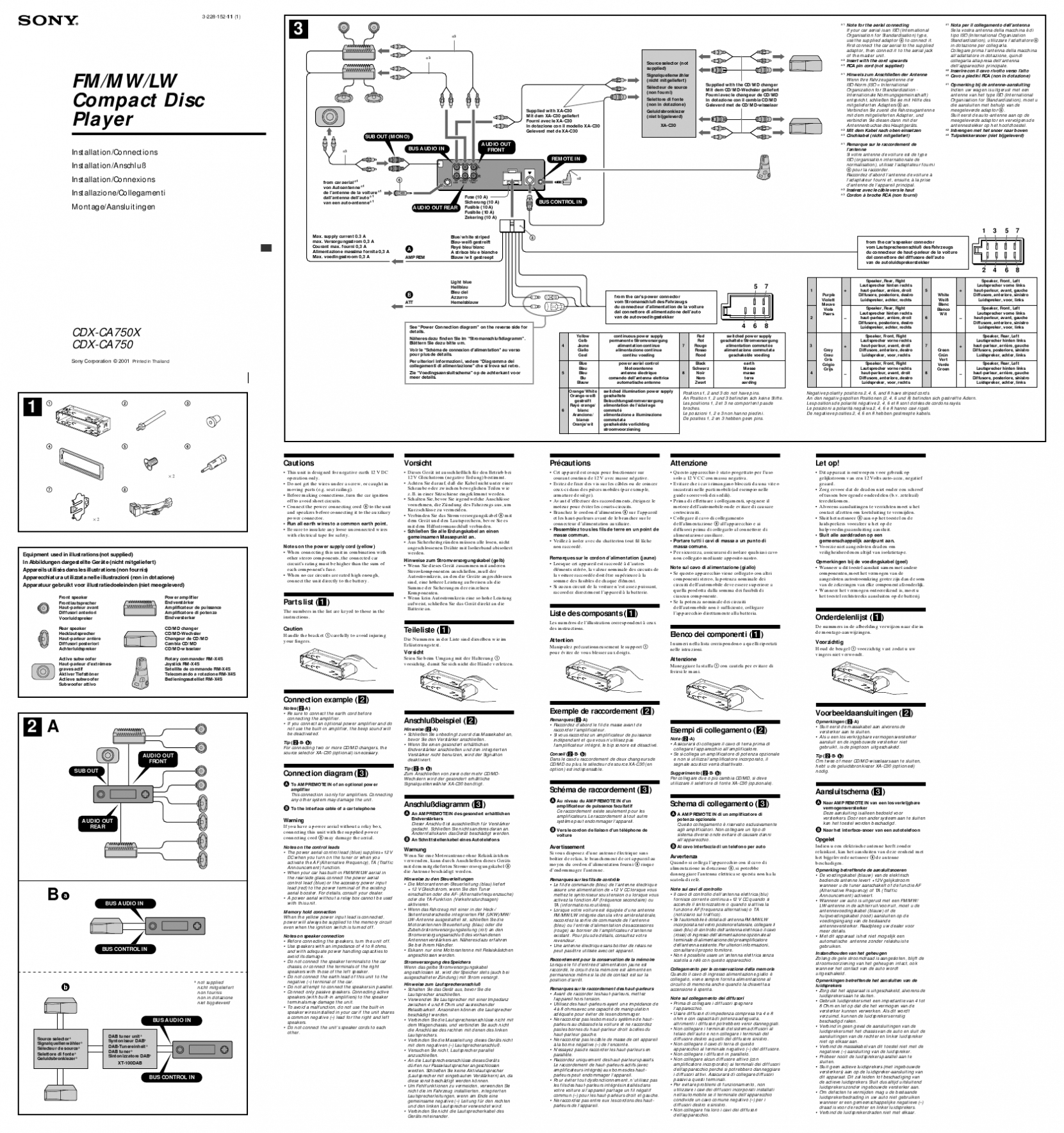 Pioneer Fh X720bt Wiring Diagram