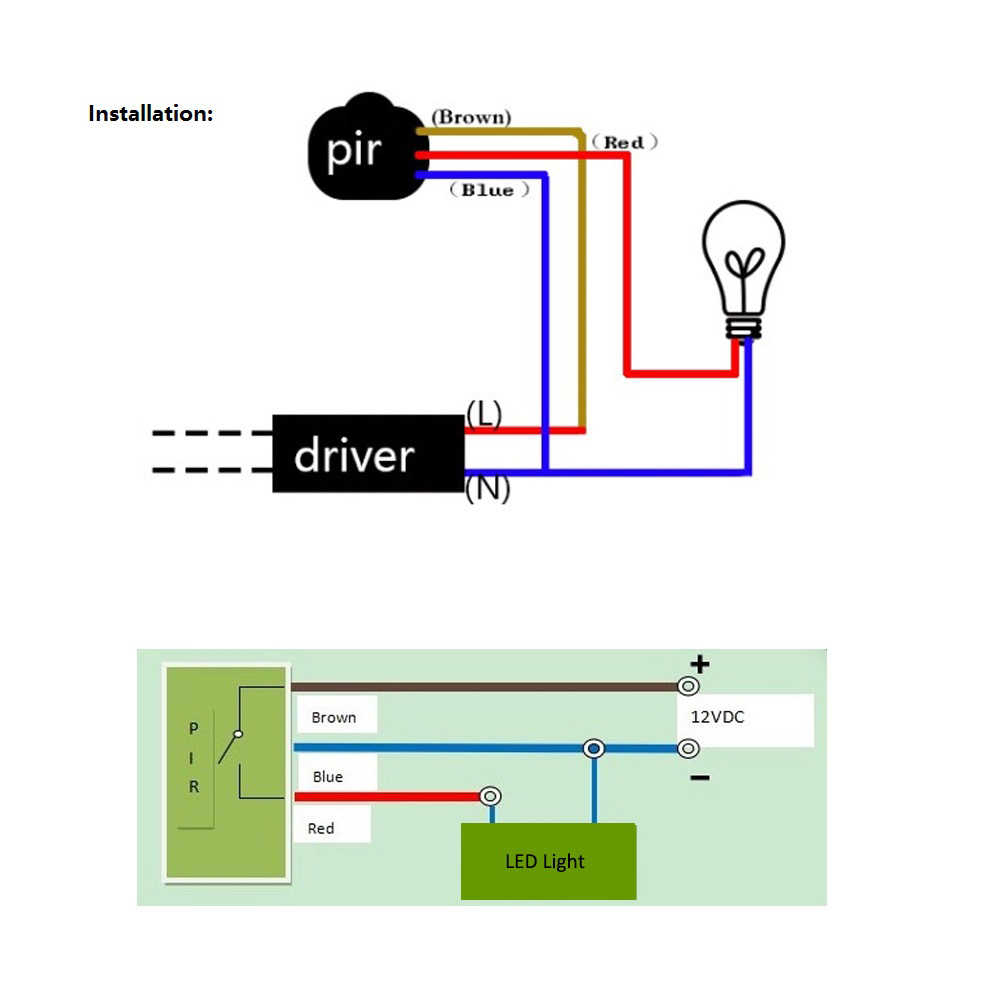 Pir Wall Switch Wiring Diagram | Wiring Diagram - Motion Sensor Wiring Diagram
