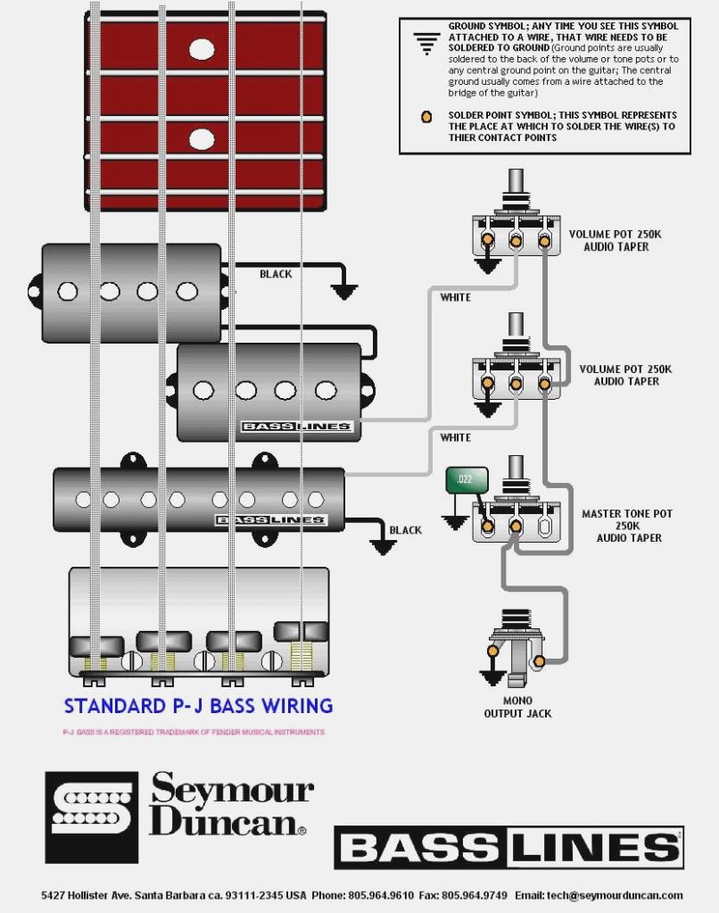 Pj Wiring Diagram - Wiring Diagram Source - Fender P Bass Wiring Diagram
