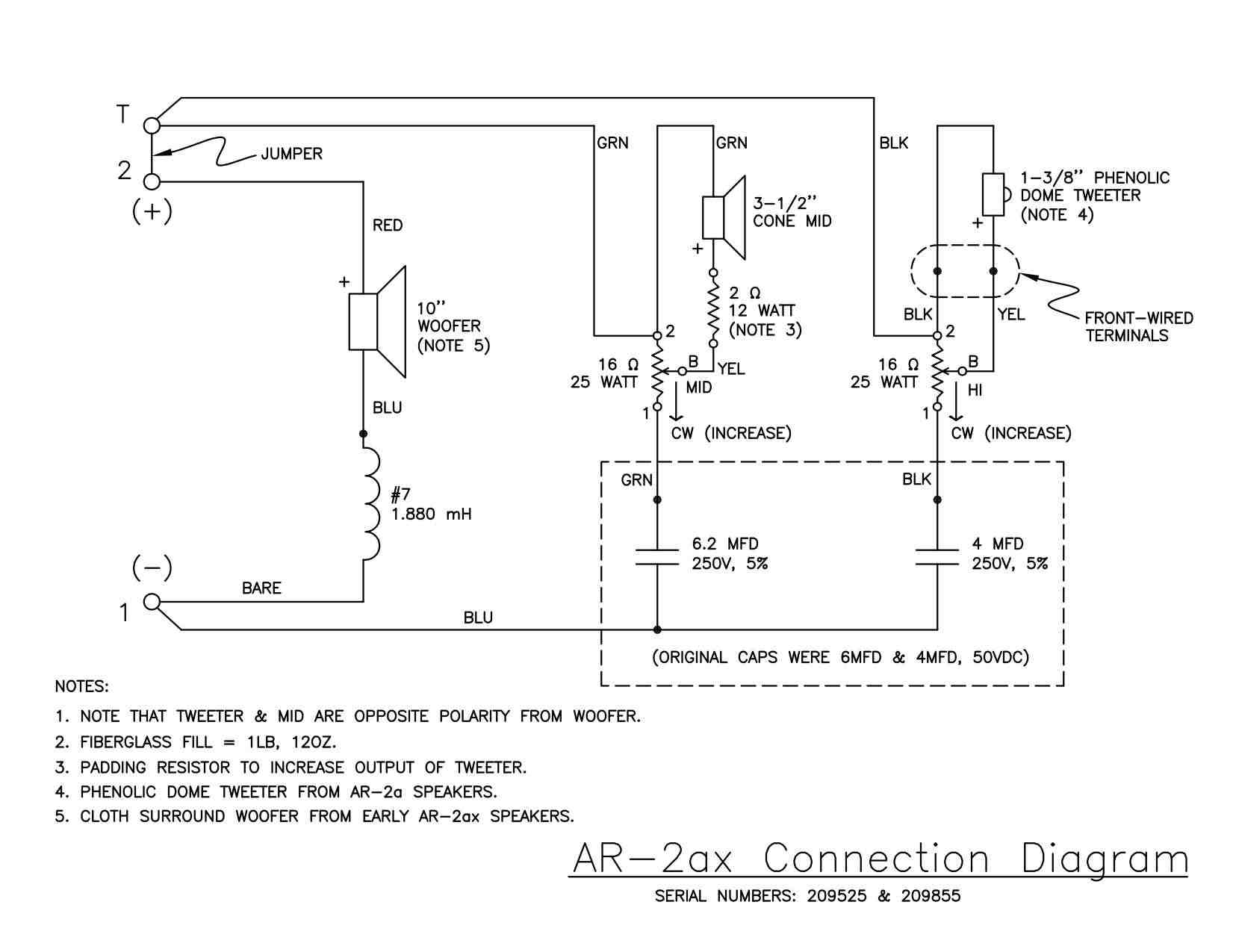 Speaker And Tweeter Wiring Diagram