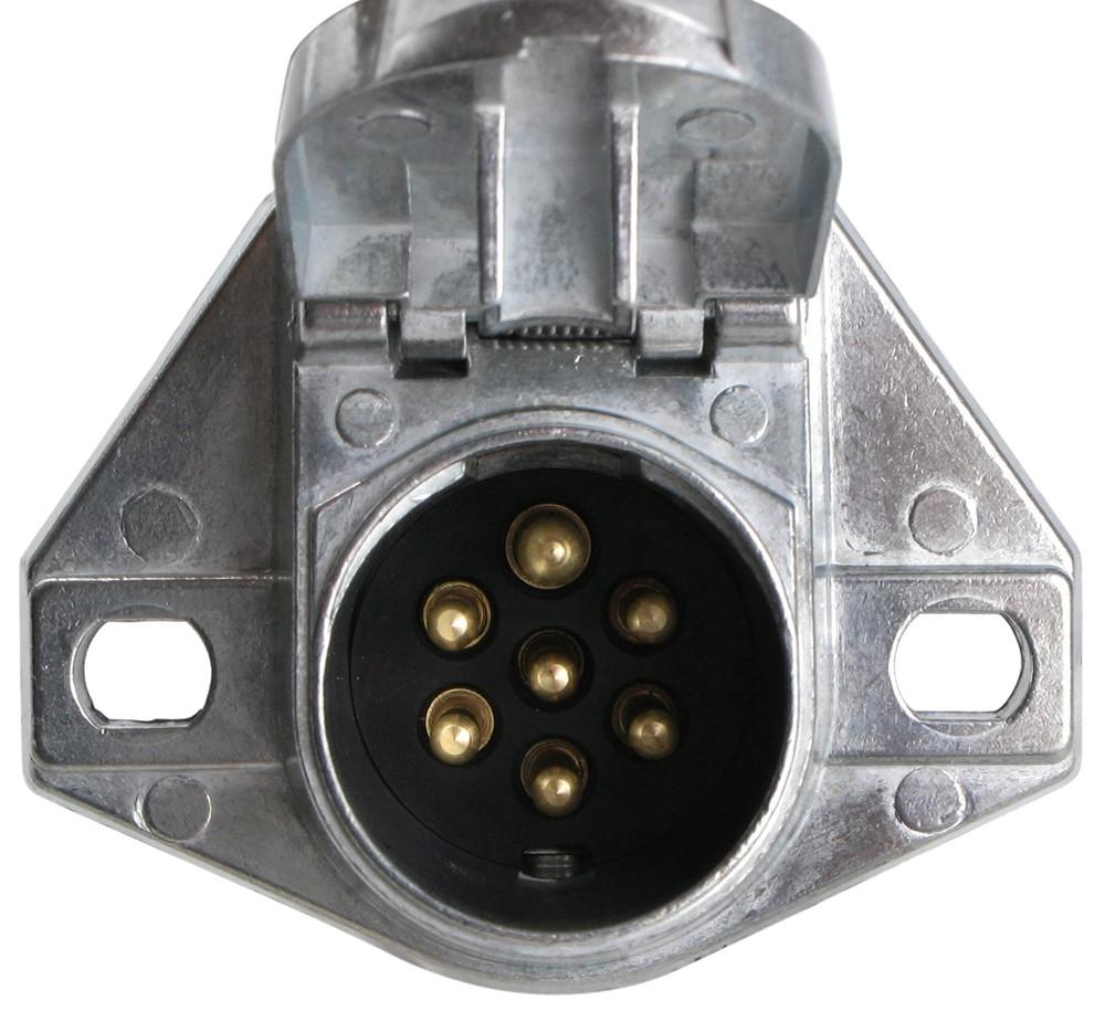 Pollak Heavy-Duty, 7-Pole, Round Pin Trailer Wiring Socket - Vehicle - 4 Way Trailer Wiring Diagram