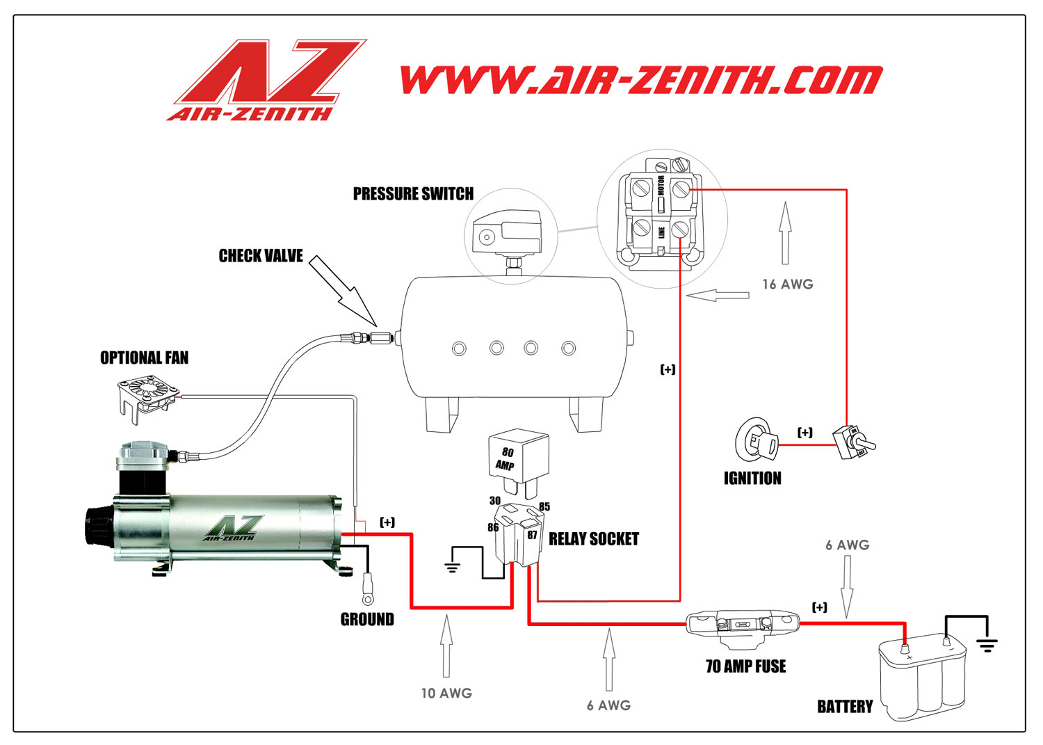 Portable Air Compressor Pressure Switch Wiring Diagram | Manual E-Books - Air Compressor Pressure Switch Wiring Diagram