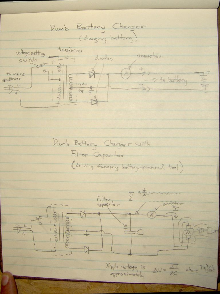 Power A Cordless Tool With A Wall Socket? - Craftsman 19.2 Volt Battery Wiring Diagram