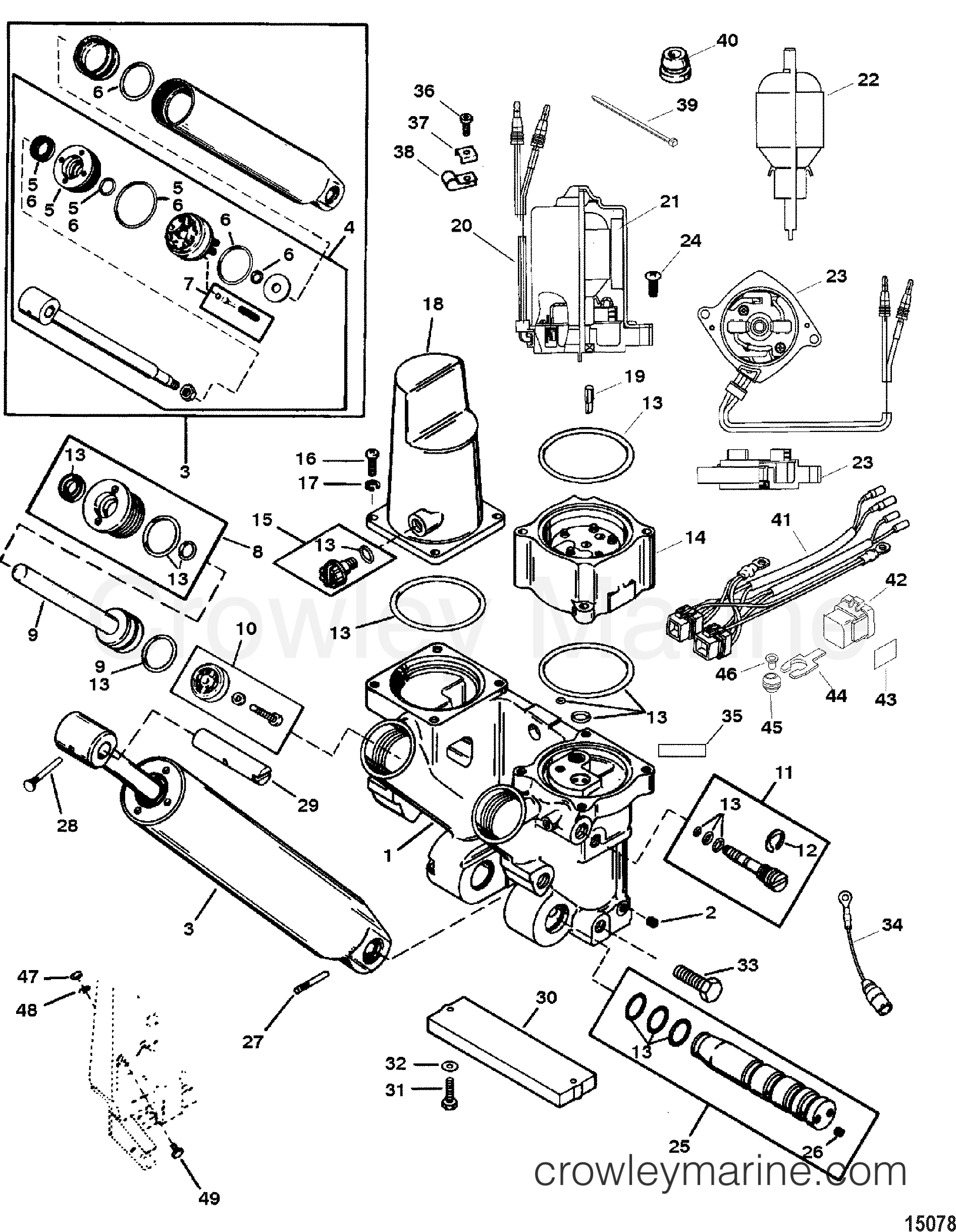 Power Trim And Tilt Kit(826729A4) - Various Years Rigging Parts Trim - Mercury Outboard Power Trim Wiring Diagram
