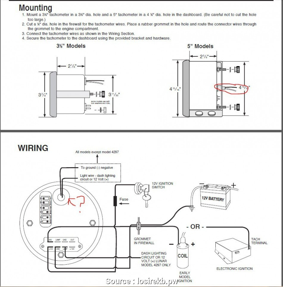 Pro Comp Hei Tach Wiring Diagram - Worksheet And Wiring Diagram • - Sun Super Tach 2 Wiring Diagram