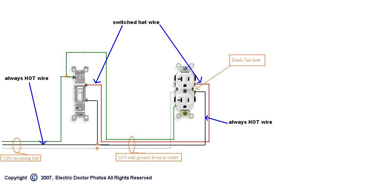 Problem Replacing A Half Hot Receptacle. Please Help - Electrical - Wiring A Switched Outlet Wiring Diagram – Power To Receptacle