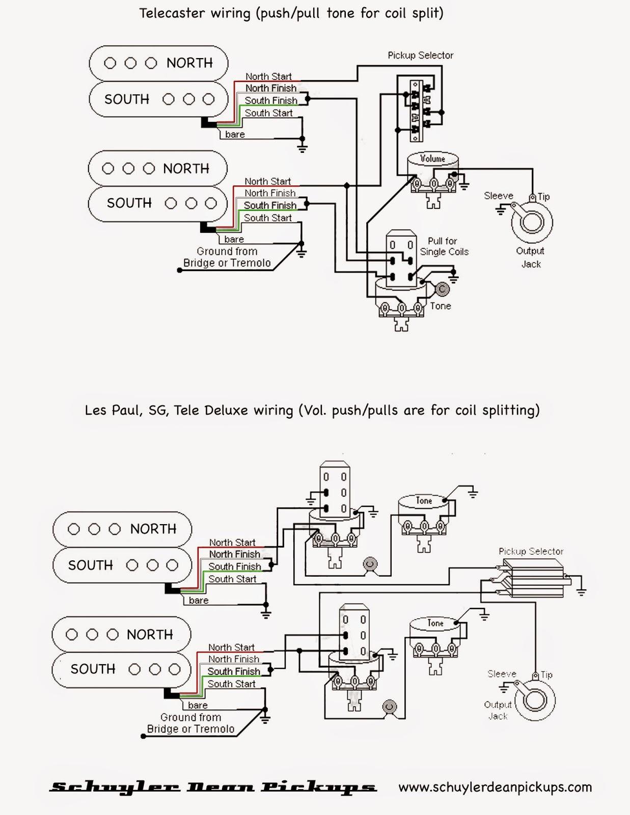 Pull Pot Humbucker Coil Split Wiring Diagram | Wiring Diagram - Hss Wiring Diagram Coil Split