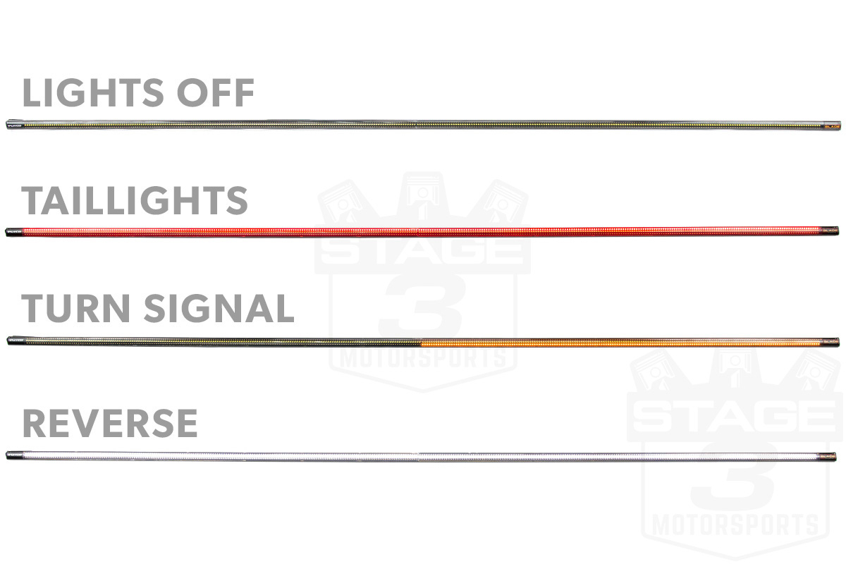 "Putco 60"" Blade Led Tailgate Light Bar With Power Wire Modification - Led Tailgate Light Bar Wiring Diagram"