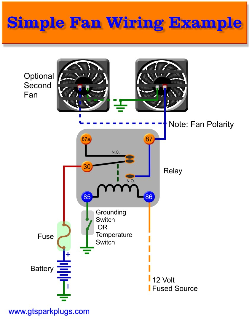 Radiator Cooling Fan Relay Wiring Diagram | Manual E-Books - Electric Fan Relay Wiring Diagram