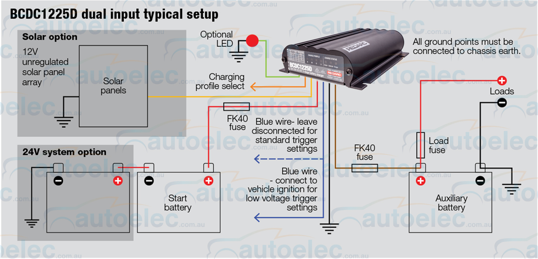 Redarc Bcdc1225D Dual Battery Isolator System Dc To Dc Mppt Solar - Dual Alternator Wiring Diagram