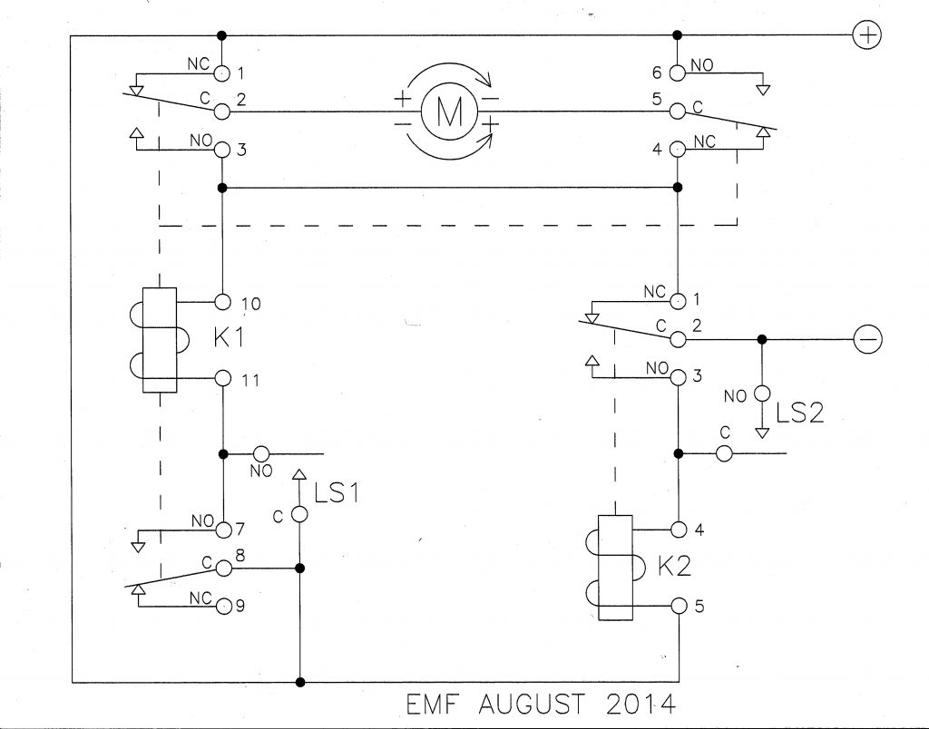 Motor Limit Switch Wiring Diagram 12v Olt