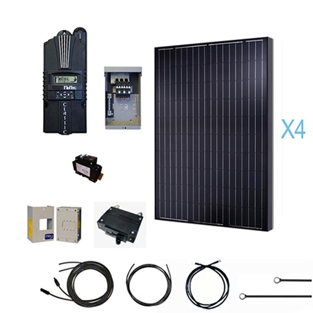 Renogy 1000-Watt 12-Volt Monocrystalline Solar Cabin Kit For Off - Renogy Wiring Diagram