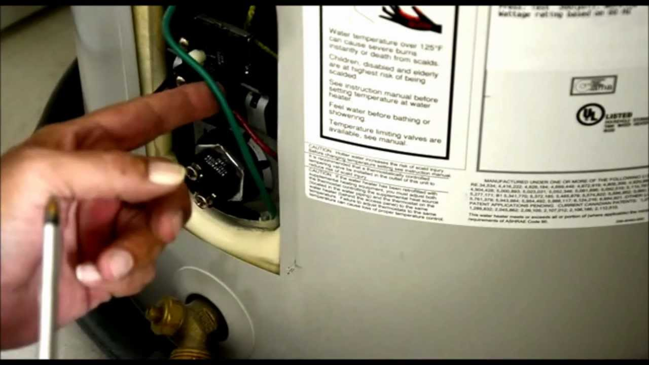 Replace Water Heater Element With Full Tank Of Water - Youtube - Electric Water Heater Thermostat Wiring Diagram