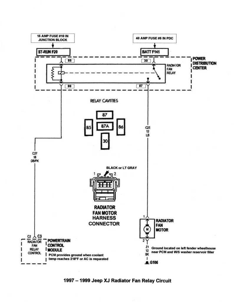 Resultado De Imagen Para Wj Electric Fan Wiring Diagram   Cherokee - Fan Relay Wiring Diagram